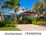 beautiful new florida house... | Shutterstock . vector #795989596