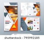 tri fold brochure design.... | Shutterstock .eps vector #795992185