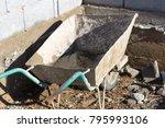 Old  Rusty Building Wheelbarrow