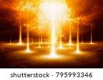 epic doomsday background   end...   Shutterstock . vector #795993346