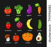 cartoon funny vegetable... | Shutterstock .eps vector #795996082