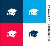 graduation student cap four...