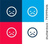 sad sleepy emoticon face square ...