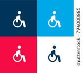 disability four color material... | Shutterstock .eps vector #796000885
