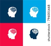 male brain four color material... | Shutterstock .eps vector #796001668