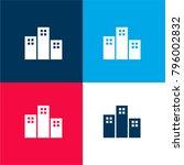 apartments buildings four color ... | Shutterstock .eps vector #796002832