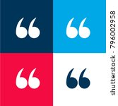 left quotes sign four color...