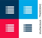 menu interface symbol of four...