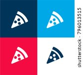 pizza four color material and...