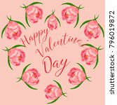 happy valentine's day greeting... | Shutterstock .eps vector #796019872