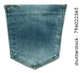 Jeans Rear Pocket. Isolated On...