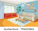 illustration of a cozy cartoon ... | Shutterstock . vector #796023862