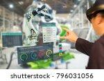 iot industry 4.0 concept... | Shutterstock . vector #796031056