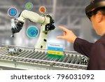 iot industry 4.0 concept... | Shutterstock . vector #796031092