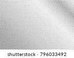black white dotted halftone... | Shutterstock .eps vector #796033492