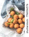 rustic bowl of arancini   Shutterstock . vector #796036576