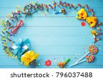 colorful birthday or carnival... | Shutterstock . vector #796037488