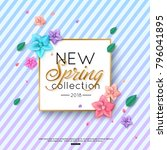 spring new collection... | Shutterstock .eps vector #796041895