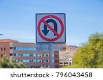 no u turn street sign signage... | Shutterstock . vector #796043458