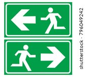 Evacuation Route Icon Logo
