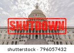 united states capitol building... | Shutterstock . vector #796057432