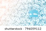 a lot of scattered cubes with... | Shutterstock . vector #796059112