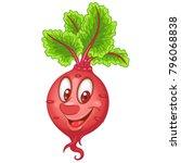 cartoon beet character.... | Shutterstock .eps vector #796068838