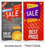 set of isolated labels or tags... | Shutterstock .eps vector #796072006