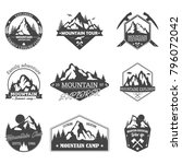 isolated hills badges or... | Shutterstock .eps vector #796072042