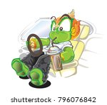 racing driving and absorption... | Shutterstock .eps vector #796076842