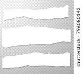 long horizontal torned off...   Shutterstock .eps vector #796080142