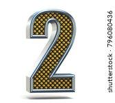 chrome metal orange dotted font ... | Shutterstock . vector #796080436