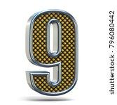 chrome metal orange dotted font ... | Shutterstock . vector #796080442