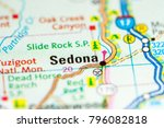 Sedona. Arizona. Usa On A Map
