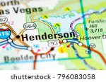 Henderson. Nevada. USA on a map