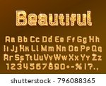 font beautiful symbol  gold... | Shutterstock .eps vector #796088365