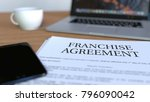 copy of franchise agreement on... | Shutterstock . vector #796090042