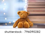 teddy bear soft toy with old... | Shutterstock . vector #796090282