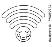 cartoon wifi internet signal... | Shutterstock .eps vector #796090372