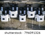 aerial drone view of parked... | Shutterstock . vector #796091326
