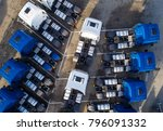 aerial drone view of parked... | Shutterstock . vector #796091332