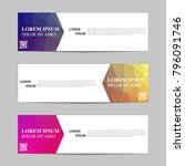 set of banners from the polygon ... | Shutterstock .eps vector #796091746