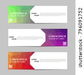 set of banners from the polygon ... | Shutterstock .eps vector #796091752