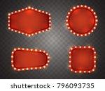 retro light sign set isolated... | Shutterstock .eps vector #796093735