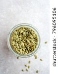 container of raw  green pumpkin ... | Shutterstock . vector #796095106