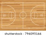 basketball court floor with... | Shutterstock .eps vector #796095166