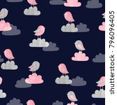 seamless pattern with cute... | Shutterstock .eps vector #796096405