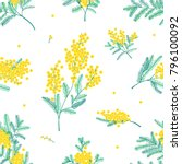 botanical seamless pattern with ... | Shutterstock .eps vector #796100092