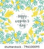 happy women's day festive wish... | Shutterstock .eps vector #796100095