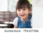 close up face of adorable... | Shutterstock . vector #796107586